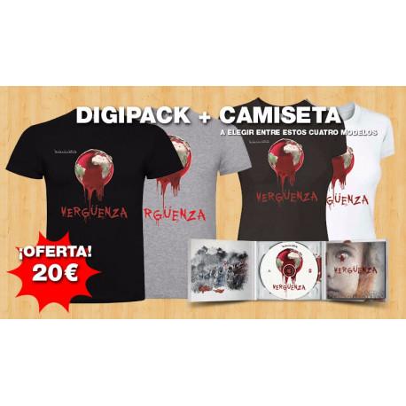 Oferta disco + camiseta Vergüenza