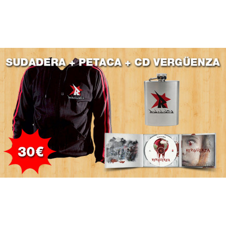 Oferta  Sudadera Reincidentes + CD+ Petaca